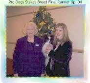 Jo and Zeb having Won The  RUNNER UP IN THE PRODOGS STAKES FINAL